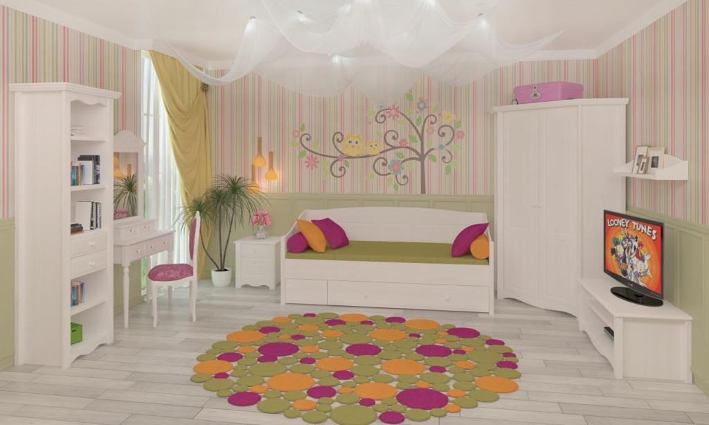 тебя мебель для детской комнаты белая для девочки опасные